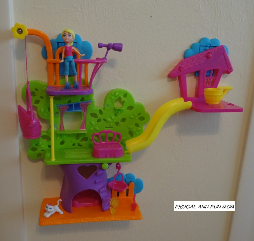 Polly Pocket Wall Party Tree House installed on the wall
