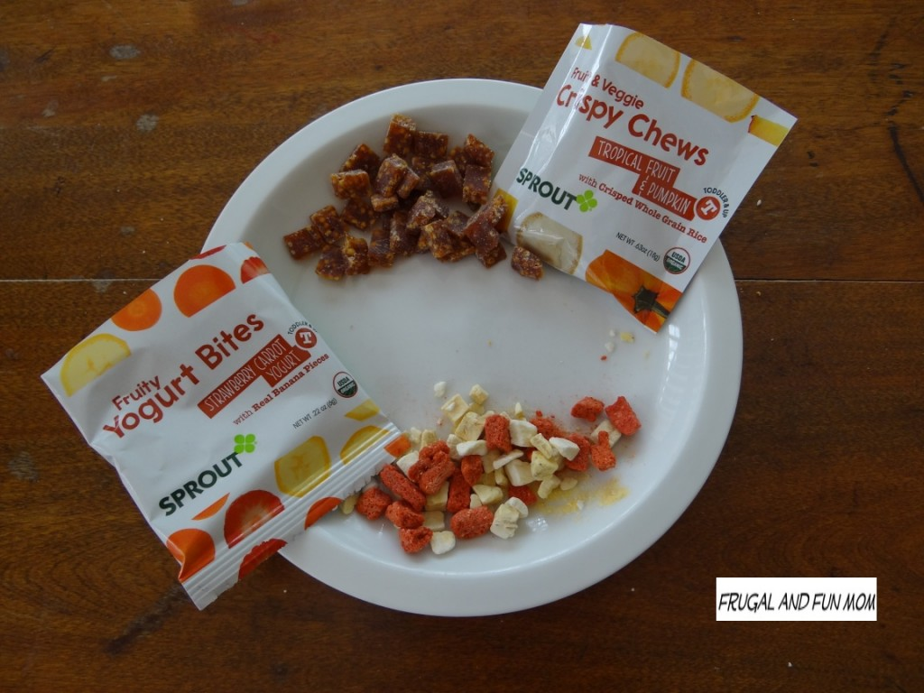 Sprout Toddler Fruity Yogurt  Bites and Crispy Chews Organic 2