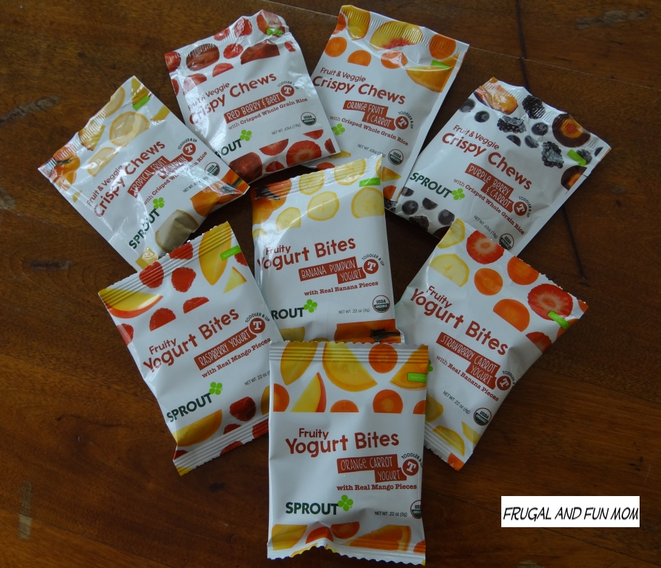 Sprout Toddler Fruity Yogurt  Bites and Crispy Chews Organic