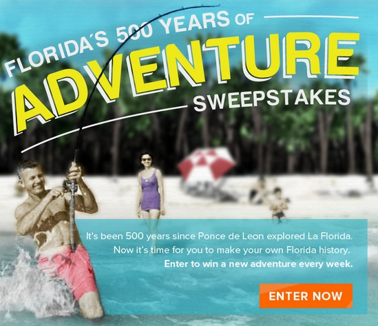 Florida's 500 Years of Adventure Sweepstakes
