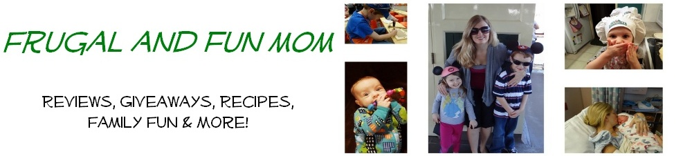 Frugal and Fun Mom/ Mom Blog, Reviews, Giveaways, Family Fun