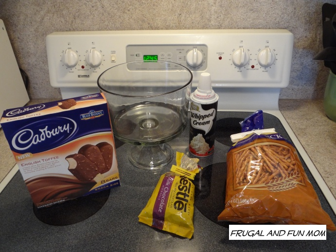 Ingredients for Ice Cream Trifle