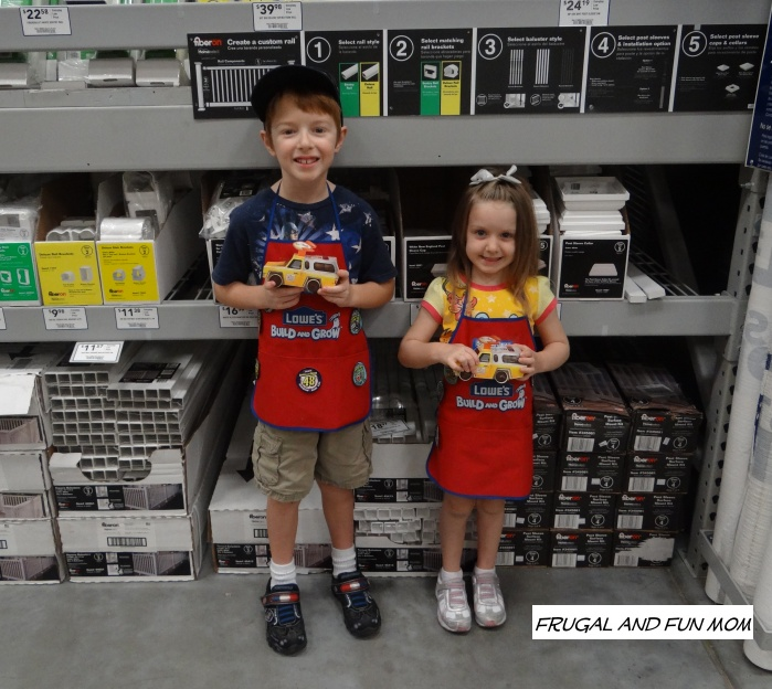 Kids at Lowe's Pizza Truck Toy Story