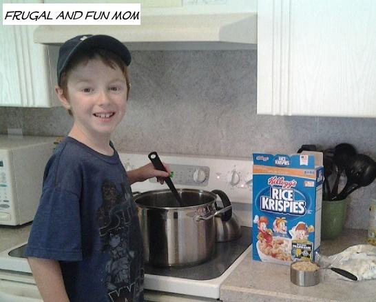 Kids making Rice Krispies
