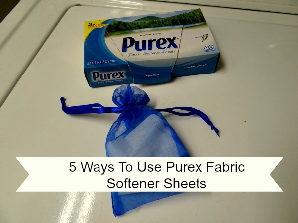 5 Ways To Use Purex Fabric Softener Sheets! Plus, A Product Giveaway!