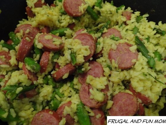 Aspharagus and Rice