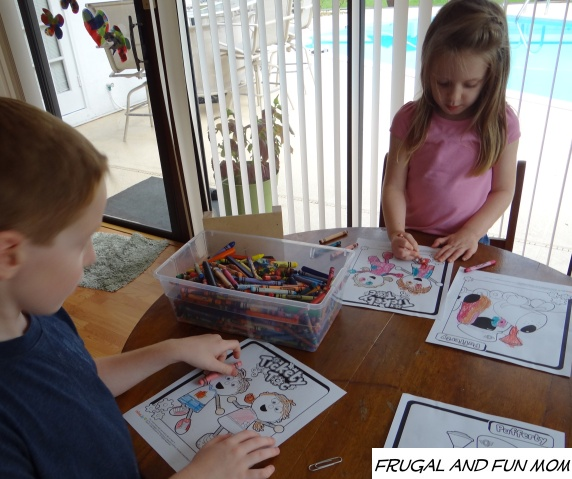 Chime Time Adventures Tickety Toc Coloring Sheets