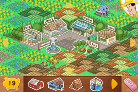 Curious George Town app built up