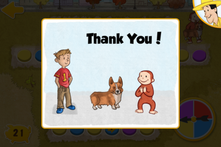 Curious George's Town Thank you