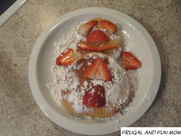 Berries Snowman Pancake