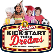 Want To WIN $10,000 or FREE Milk for a Year?  Enter For a Chance At The Borden Dairy Back-To-School Sweepstakes!