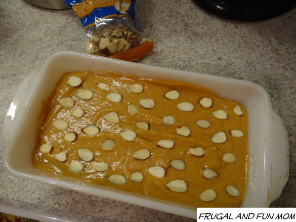 Pumpkin Bread before the oven