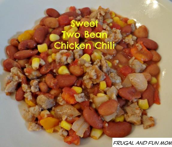 Sweet Two Bean Chicken Chili Recipe