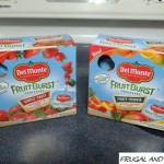 Review and Giveaway of Del Monte Fruit Burst Squeezers! 1 1/2 Servings of Fruit or Fruit and Vegetables!