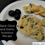 Black Olive and Garlic Hummus Recipe With Pompeian Extra Virgin Olive Oil!