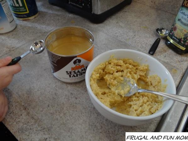 Black Olive and Garlic Hummus Recipe tahini