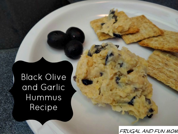 Black Olive and Garlic Hummus Recipe