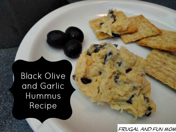 Black Olive and Garlic Hummus Recipe