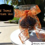Transforming A Hurricane Vase Into A Fall Decoration! An Easy and Frugal Craft!