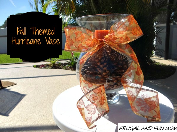 Fall Hurricane Vase