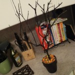 DIY Spooky and Fun Halloween Tree! Household Items and Paint Used To Create This Craft!