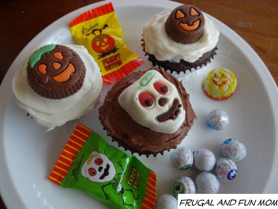 R. M. Palmer Candy used as cupcake decoration