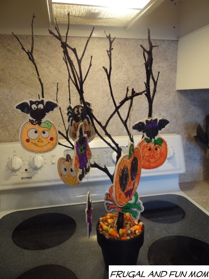 halloween tree decorated