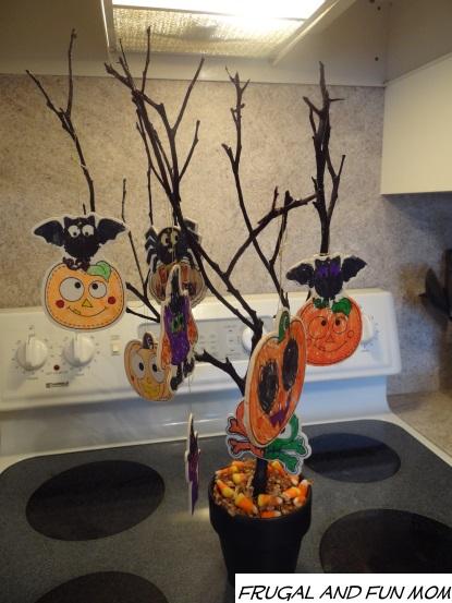 halloween tree decorated