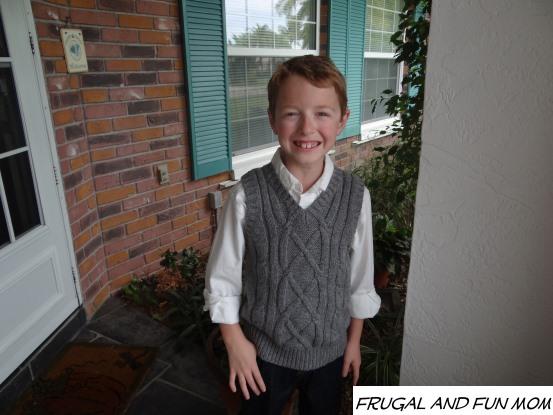 Boy in OshKosh B'gosh Holiday clothing