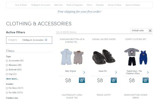 Clothing at Swap dot com shopping