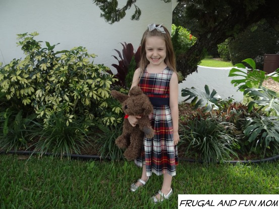 Girl in OshKosh B'gosh Dress