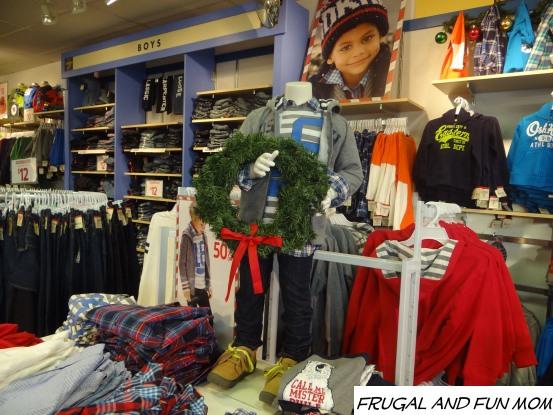 OshKosh B'gosh Holiday Display