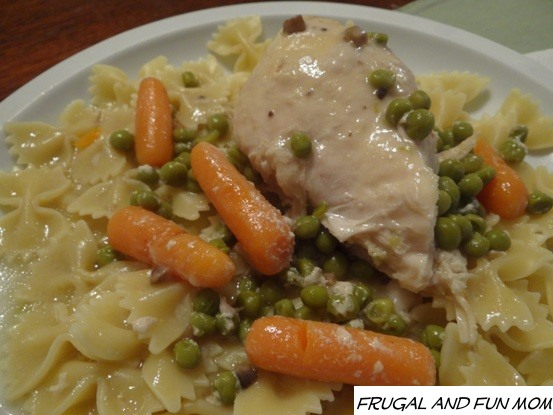 Slow Cooker Chicken Peas and Carrots Recipe