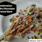 Celebration Pretzel Bark Made With Ghirardelli White Chocolate! Easy To Make With Only 3 Ingredients!