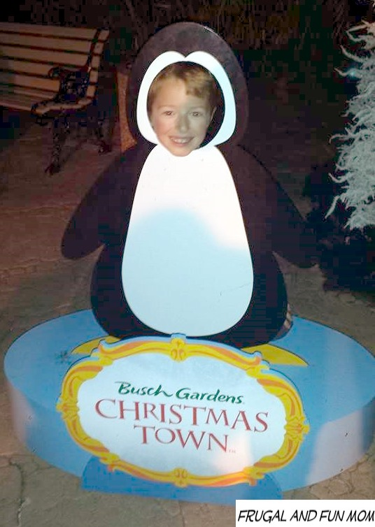 Being a Penguin at Christmas Town at Busch Gardens