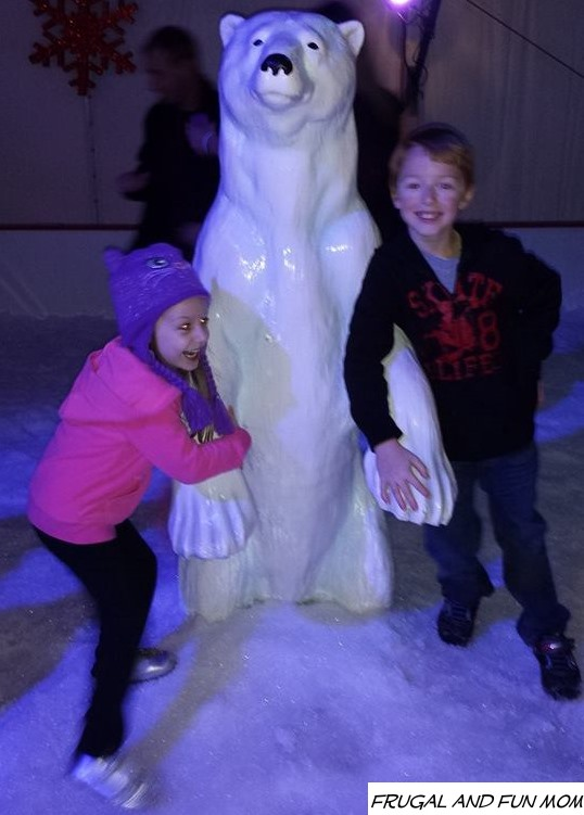 Christmas Town at Busch Gardens playing in the snow