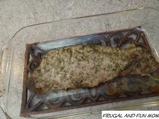 Cooked Pork Tenderloin with Dill Grapeseed Oil rub