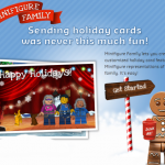 FREE LEGO Minifigure Family Holiday Card! Customize With Faces, Outfits, and More!