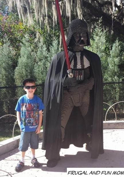 Hanging with Darth Vader at Legoland Florida