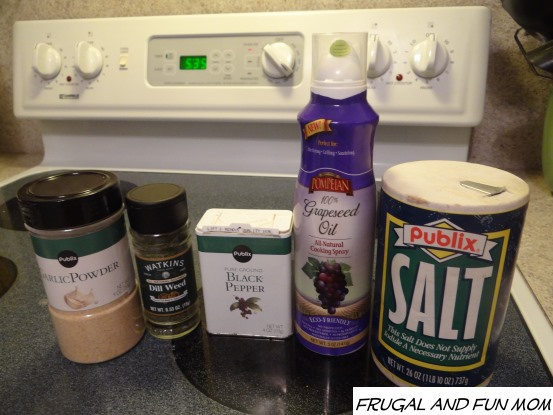 Ingredients for Pork Tenderloin with Dill Grapeseed Oil rub