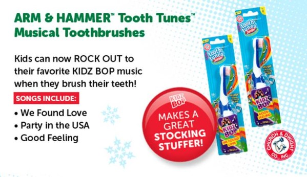 Kidz Bop Tooth Tunes Junior Tooth Brush Arm & Hammer