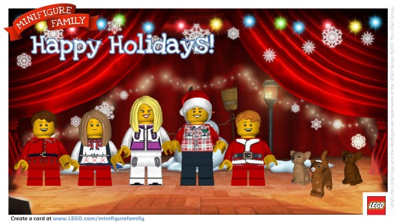 LEGO Family e Card postcard