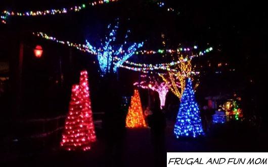 Lights at Christmas Town Busch Gardens