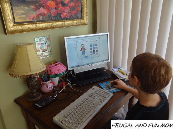 Making his LEGO Family Minifigures