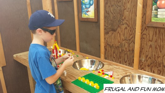 Playing with LEGOS at Legoland