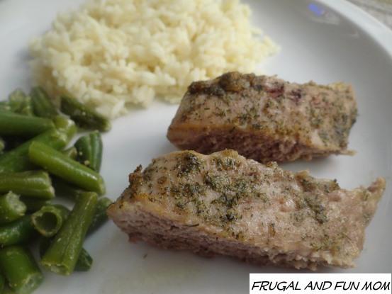 Pork Tenderloin with Dill Grapeseed Oil