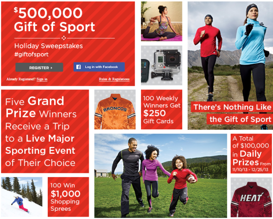 Sports Authority Sweepstakes Gift of Sport