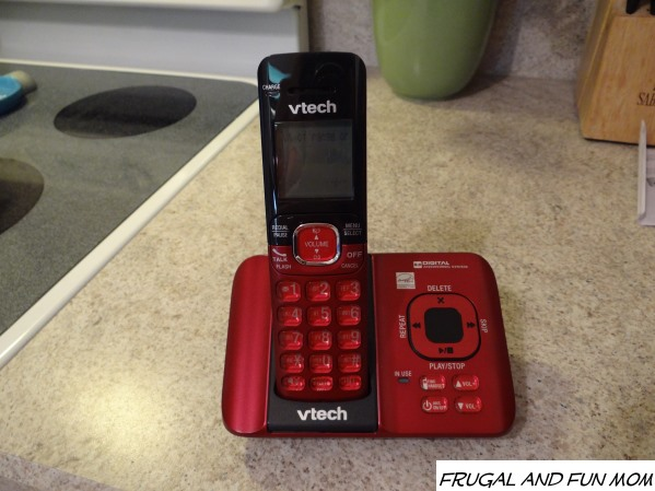 vtech Cordless Answering System Red Phone CS6529-16