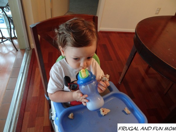 Child with Nuby Sippy