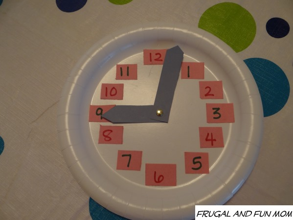 Clock Craft Made With Paper Plate Assembled